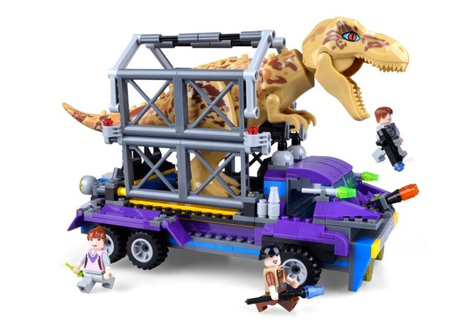 QIAOLETONG Jurassic World Park Arrest Overlord Dragon Building Blocks Classic For Boy Kids Model Toys Compatible Legoe Gift Car overlord маруяма куганэ мп3 аудиокнига том 8 скачать