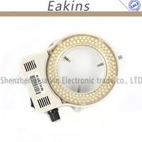 Регулируемая 144 светодиодный кольца света Просветителя лампа 100 В-240 В для промышленности стерео микроскоп CCD цифровая Камера Лупа