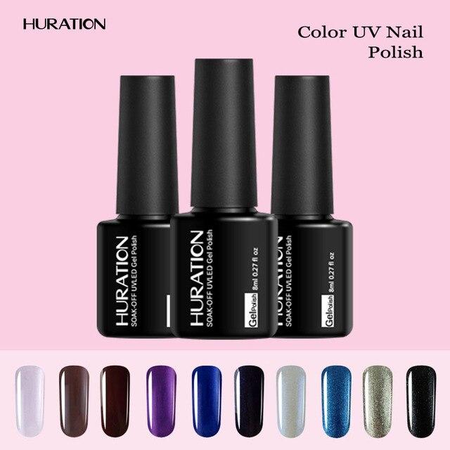 Huration 8ML Bling Color Neon Gel Nail Polish UV LED Lamp Soak Off ...