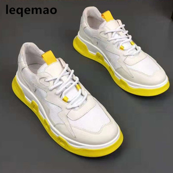 Hot Sale Newest Fashion Cool Man Casual Shoes High Quality Men Sneakers Genuine Leather Brand Flats Boat Shoes Size 38-44