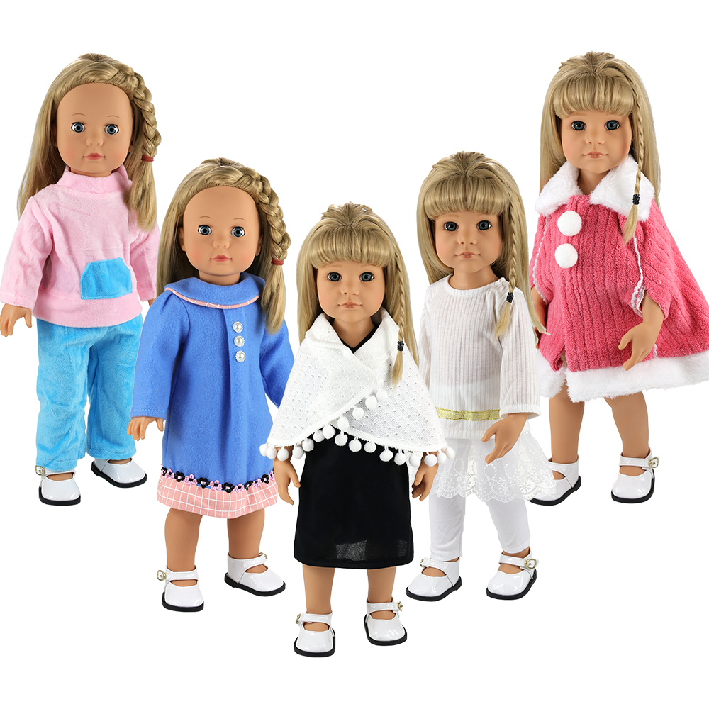 Fashion Handmand 5 Items/Set Doll Accessories 43 cm Kids Toys Our generation Dolls Clothes For 18 inch Baby toys DIY Present