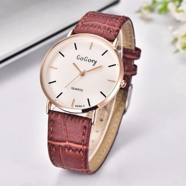 Brand Sport Unisex Watches Women Fashion Casual Quartz Watch Men Leather Analog 2016 GOGOey Luxury Wristwatch Relogio Masculino