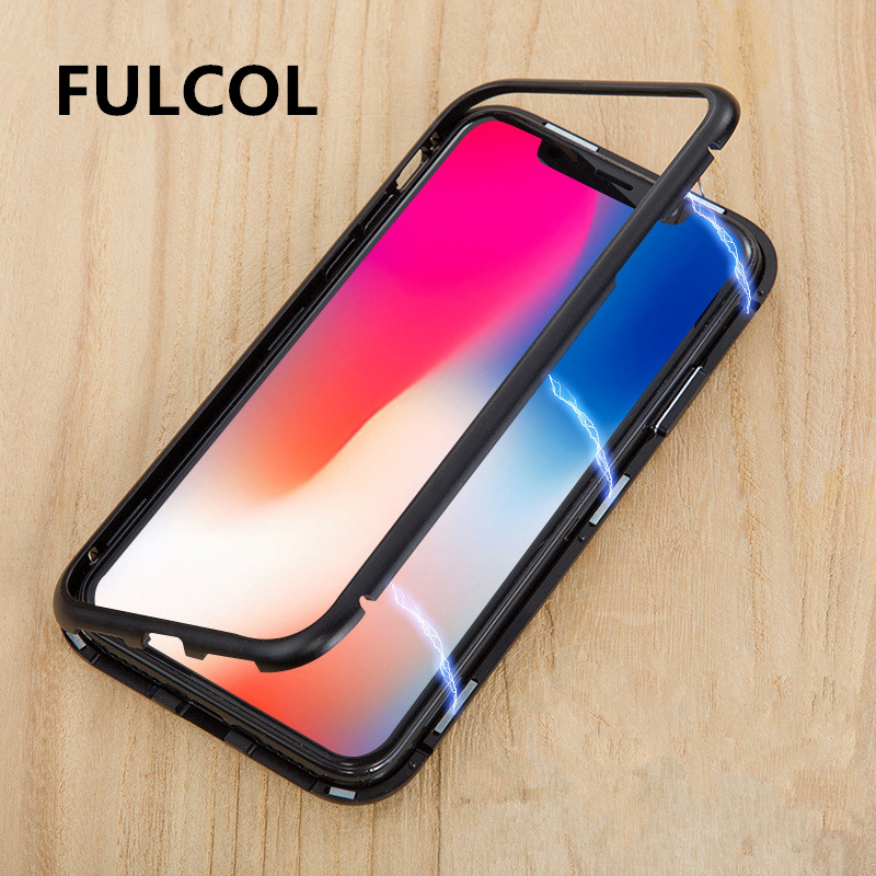 2019 Fashion Magnetic Case For Samsung Galaxy S8 S9 S10 Plus S10e Note 9 S7 Glass Cover For Huawei P30 P20 Pro Lite Mate 20 Pro Honor 10 Lite