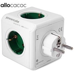Allocacoc جهاز شحن الأصلي PowerCube المقبس الاتحاد الأوروبي التوصيل 5 منافذ Adapter-16A 250 فولت 3680 واط السلطة مكعب