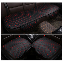 Universal Car Front Back Rear Side Seat Cover Auto Chair Cushion Breathable PU Leather Pad Mat All Season