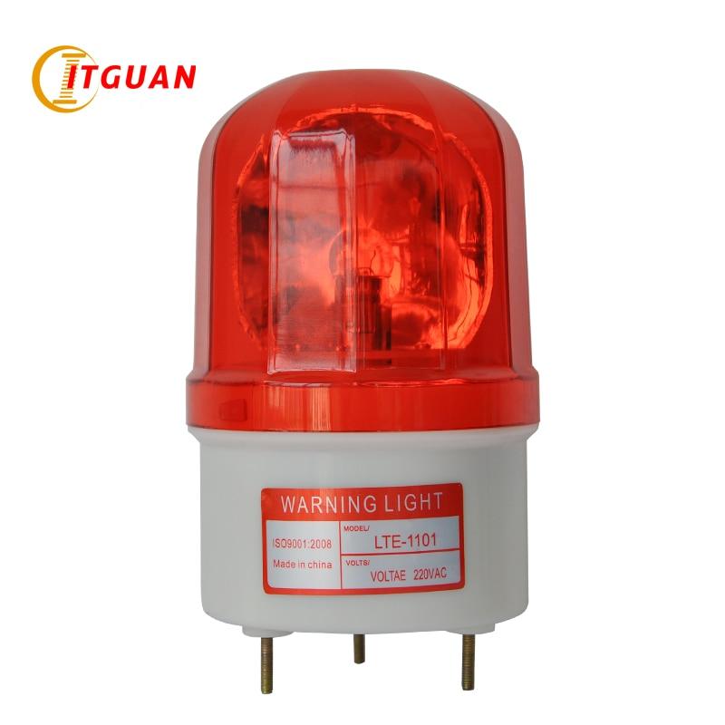 LTE-1101 Revolving Warning Light Bulbs Rotary Emergency Strobe Light Beacon Signal Incandcent Warning Light Lighting 12v revolving warning light for vehicles red