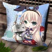 Hobby Express Dakimakura Kantai Collection Anime Square Case Pillow Cover Cute Shimakaze SPC72