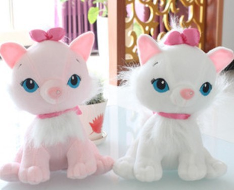 New Arrived 35cm cat plush toy Mary cat doll lovers gift 1pair/lot Gift For Lovers Factory Supply