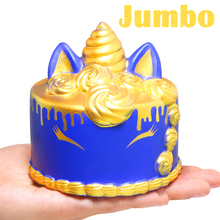Jumbo Gold Unicorn Mousse Cake Squishy Cute Squishies Cream Scented Slow Rising Kids Toys Doll Stress Relief Toy