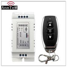 Interruptor de controle remoto sem fio 433mhz rf transmissor receptor 18v a 24v motor para a frente + reverso parar módulo controlador direção