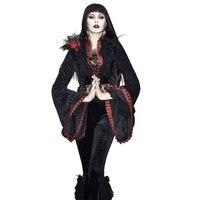 Eva Леди Готический Ретро короткая куртка для женщин с длинным рукавом Труба Жаккард кружева сексуальная викторианская Роскошная Куртка Кос