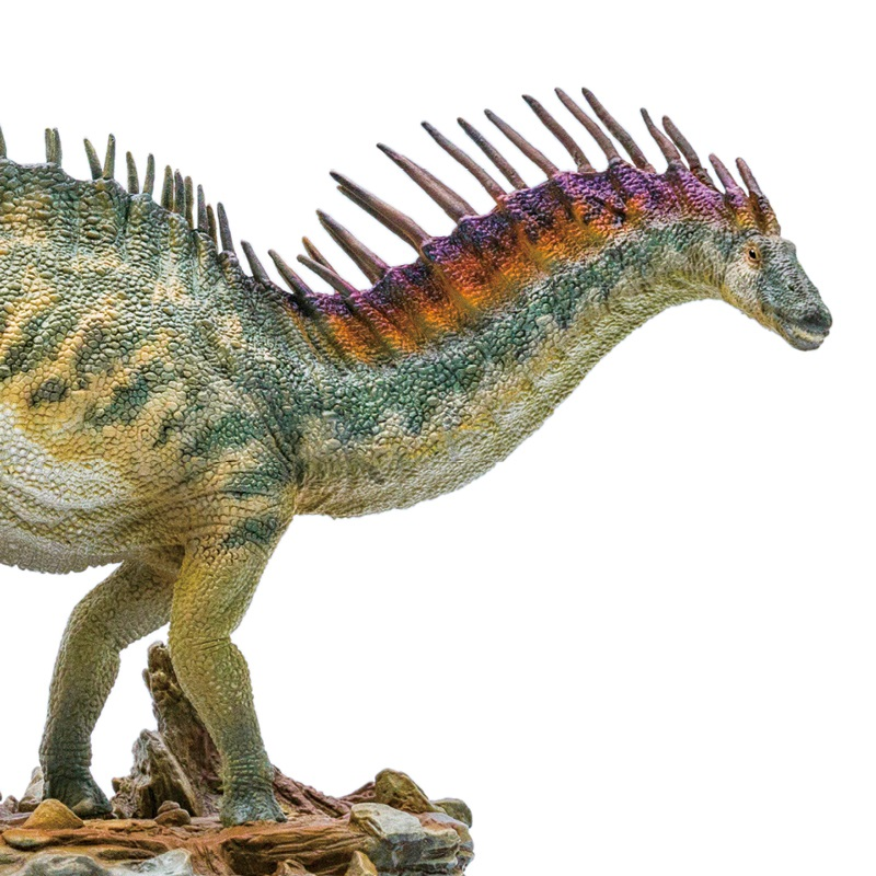 1 35 PNSO Amargasaurus Cazaui Amagaron With Pedestal Platform Dinosaur Model Classic Toys For Boys Collection
