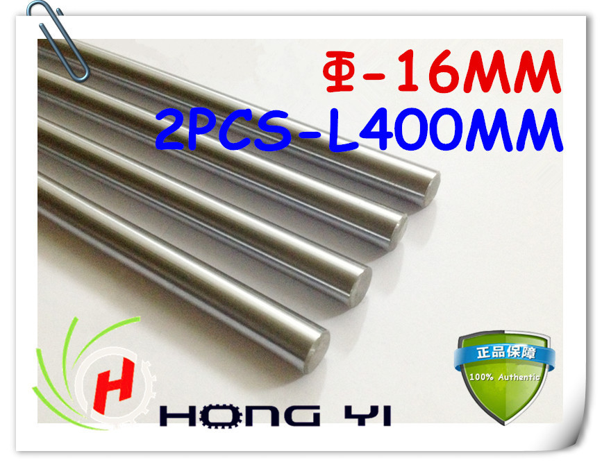 2pcs 3D printer rod shaft WCS 16 mm linear shaft L 400mm chrome plated linear motion guide rail round rod Shaft for cnc robot 2pcs linear shaft 500mm long diameter 20mm l 500mm harden linear rod round shaft chrome plated
