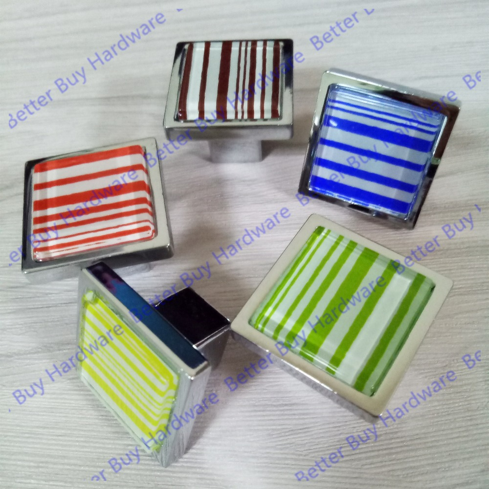 31x31mm Colorful square Single knob of Zinc Alloy and Acrylic Furniture pull for kitchen Cabinet cupboard drawer door physical and sensing properties of zinc oxide thin films