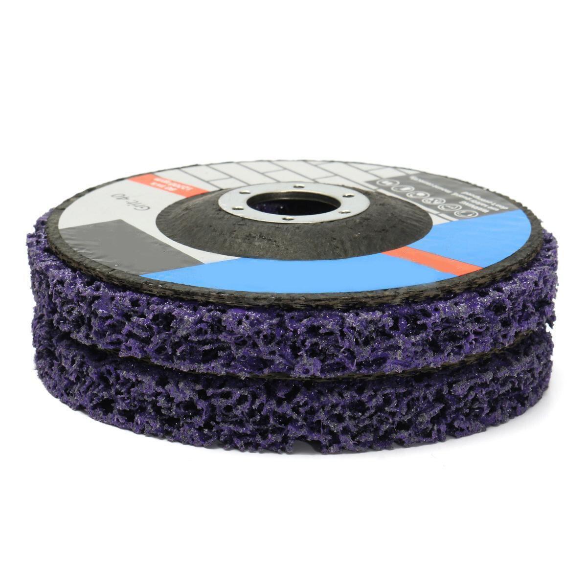 2 stücke 125mm Poly Streifen Disc Schleifscheibe Farbe Rost Removal Clean Mayitr Für Winkelschleifer