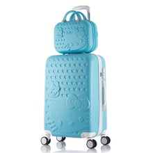 Cute Kitty Rolling Suitcase Travel Luggage