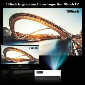 Image 4 - CRENOVA 最新のビデオアンドロイド 6.1OS 4300 ルーメンの Wifi Bluetooth HD 1280*728 1080p ホームシアター映画プロジェクタービーマー
