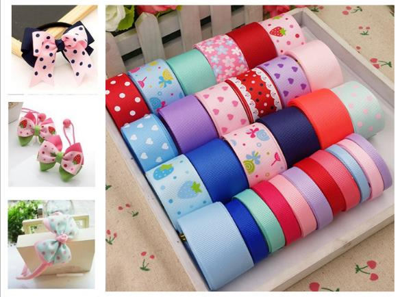 Mix 29meters Cartoon Colorfully Ribbon Set diy hair accessory material accessories for Grils gift wedding decorations