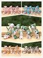 9 pçs/set Diy casa de boneca de material accessoriesresin gato criativo mini artigos de decoração decorativos