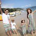 2016 summer beach baby boy clothes short-sleeved striped Family lovers sets mother daughter dresses