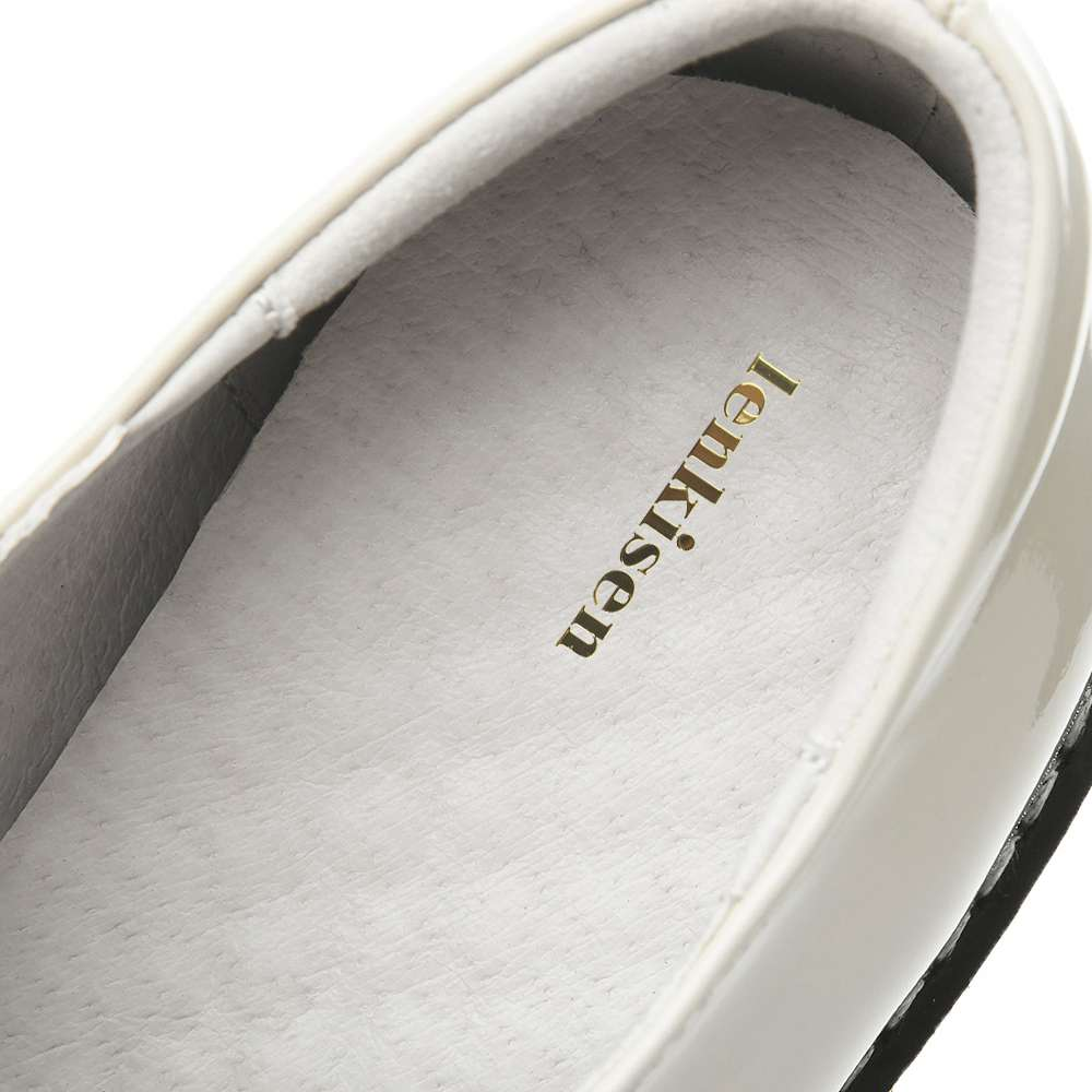 Chaussures simples monochromes, à talons bas, mode professionnelle, rencontres décontracté - 6