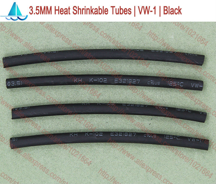 20meters/lot 3.5MM Heat Shrink Tubes Shrinkable Tubing Insulation Sleeving