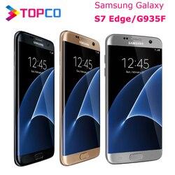 Оригинальный разблокированный Samsung Galaxy S7 Edge G935F, LTE, Android, мобильный телефон восемь ядер, 5,5 дюйма, 12 МП и 5 МП, 4 Гб ОЗУ, 32 Гб ПЗУ