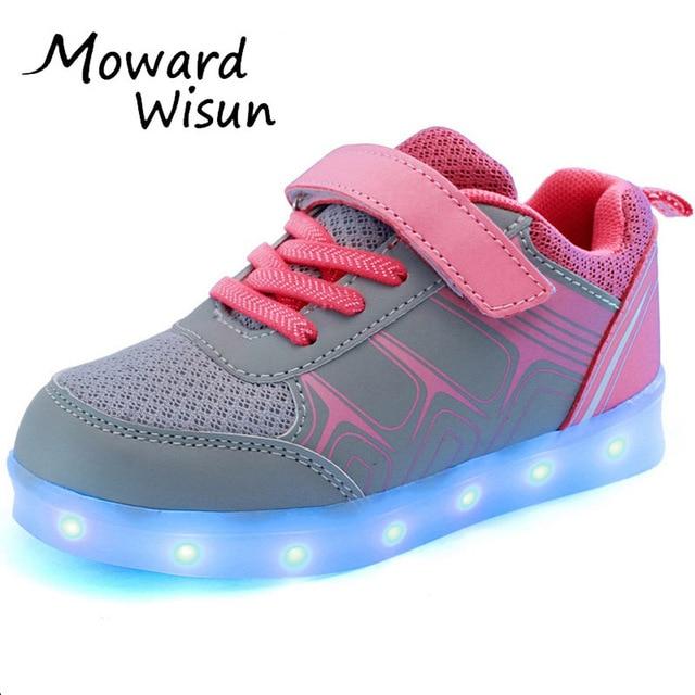 Lumineux Rougeoyant de Sneakers Sport Led Chaussures pour Garçons Filles Enfants FGkHi