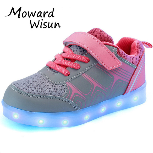 55863030b0d0e Good Quality Kids Sneakers Glowing Luminous with Light Sole LED Shoes for  Boys Girl Children Chaussure Enfant LED Slippers 28