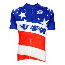 Extranjero SportsWear EE. UU. Estilo Patrón Hombres de Manga Corta Camisetas de Ciclismo Ciclismo ropa Cremallera Completa Tamaño XS-5XL