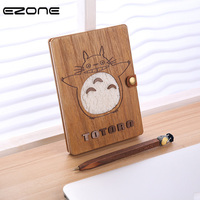 EZONE Stitching Binding Novelty Cartoon Planner Notebook Cute Wooden Chinchilla Diary Note Book Gifts School Gift