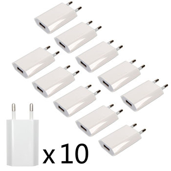 10PCS Lot Travel Wall Charging Charger Power Adapter USB AC EU Plug For Apple iPhone X XS MAX MR 8 7 6 6s 5 5S SE 5C 4 4S 3GS