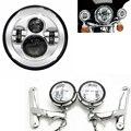 """Harley Motos Accesorios LED 7 """"Harley Motocicleta H4 Faros 4 1/2"""" Soportes de Iluminación Auxiliar Marco de Harley Street Glide"""