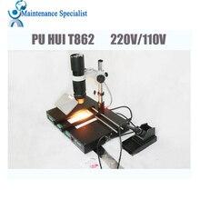 PUHUI T862 IRDA Kızılötesi bga rework makinesi, BGA SMD SMT sökme Rework Istasyonu
