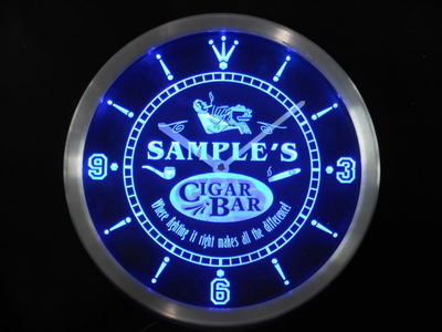 ncqz-tm Name Personalized Custom Cigar Pipe Bar Lounge Neon Sign LED Clock Wholesale Dropshipping