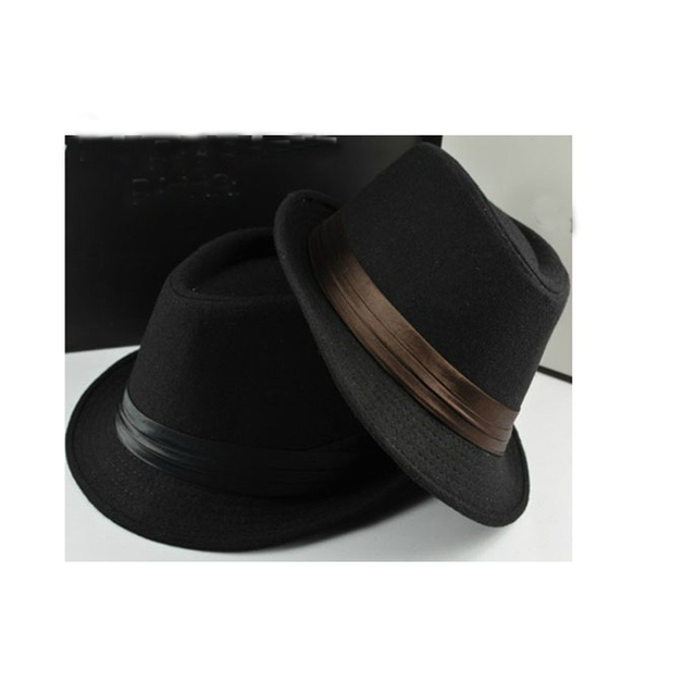 New bowler hat men s fedora casual cap silk decorated Jazz brim Europe  style foldable for women   men autumn wool Panama 1b448ab4fa9a
