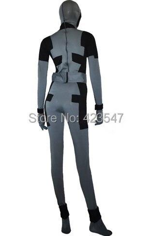 X-Force Deadpoo kostiumas juodas ir tamsiai pilkas Spandex Lycra - Karnavaliniai kostiumai - Nuotrauka 2