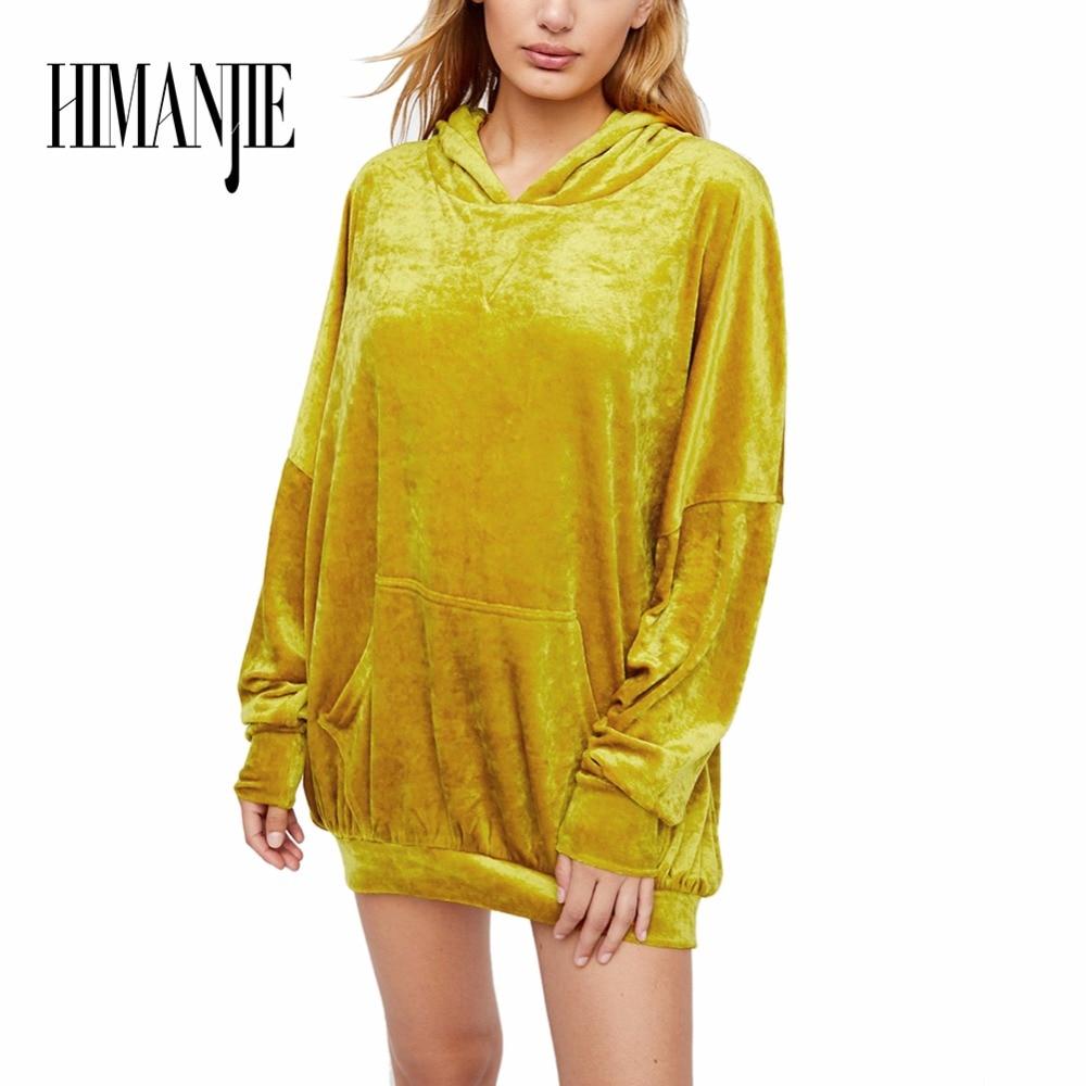 2017 New Hooded Long Sleeve Sweatshirt Womens Large Sized Loose Batwing Sleeve Hooded Sweatshirt with Pocket Design