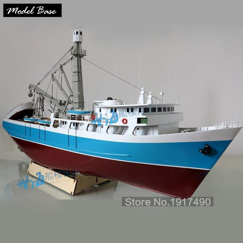 Wooden Ship Models Kits Educational Toy Diy Model Boats Wooden 3d Laser Cut Model Scale 1/60 Abba Teng Number (Albatun) Seiner