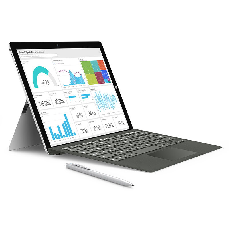 12.2 pouces Teclast X5 Pro 2 en 1 Tablet PC Windows 10 IPS Écran capacitif Intel Kaby Lac Core M3-7Y30 Quad Core 1.0 GHz 8 GB RA