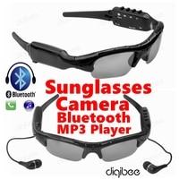 Nieuwe Cool Smart Bril MP3 Stereo Bluetooth Headset HD 720 P Mini Camcorder Zonnebril Camera DV DVR Digitale Video Audio Recorder