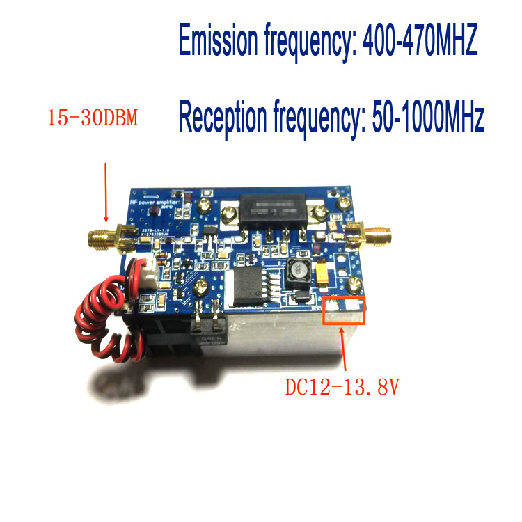 Half Duplex UHF Power Amplifier For MMDVM Hotspot digital DMR, DPMR, P25, C4FM, SFK Transmission frequency: 400-470MHZ Receiver Half Duplex UHF Power Amplifier For MMDVM Hotspot digital DMR, DPMR, P25, C4FM, SFK Transmission frequency: 400-470MHZ Receiver