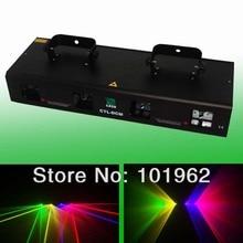 Оптовая продажа высокое качество 4 объектива 360 МВт RGYV DMX лазерный проектор диско DJ вечерние сцены и освещение