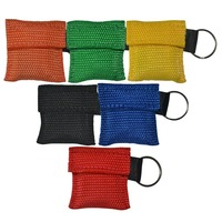 100Pcs CPR Mask CPR Face Shield With Keychain Yellow Nylon Pouch First Aid Rescue Kit Emergency Survival Training Tool