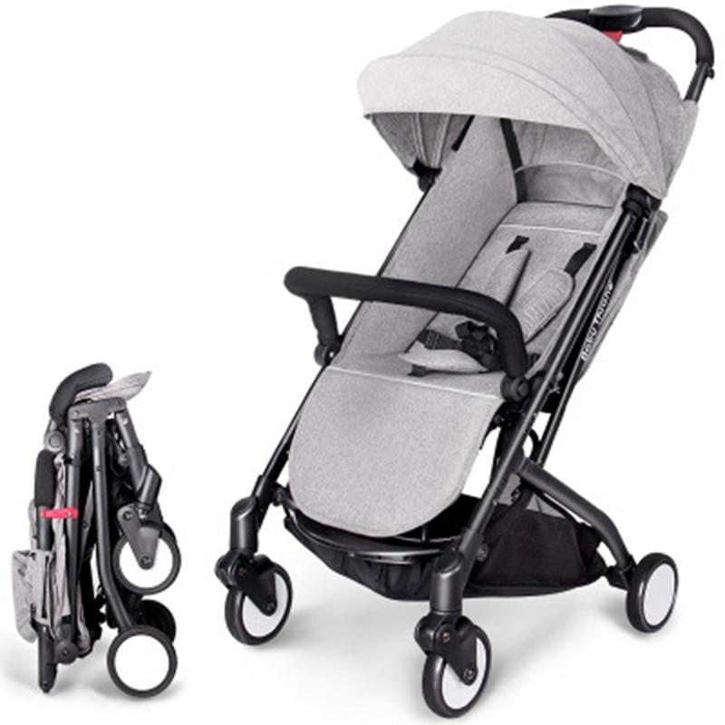 Lightweight baby stroller aluminum alloy can sit can sleep folding newborn baby pram 2 in 1 3 gear adjustment цена