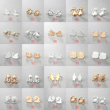 Chereda Multiple 2019 Classic Minimalist Golden and Silver Alloy Animal Cute Stud Earrings Carnations Jewlery for Women Gifts