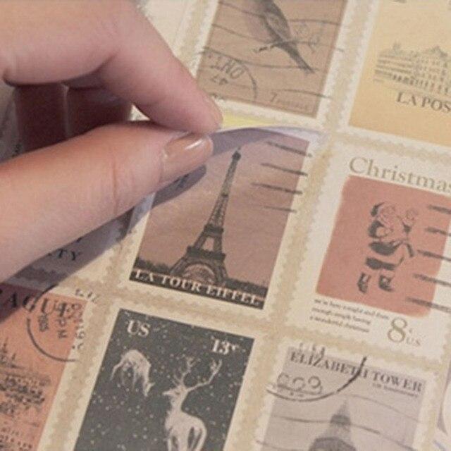 12 Folha (8 De Pvc E 4 De Papel) Adesivo Retro Clássico Do Vintage