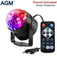 Agm舞台照明効果クリスタルマジックボール電球ledステージライトディスコクラブdjパーティーレーザー光音制御dmxショーリュミエー