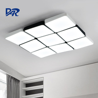Modern Led Ceiling Lights For Living Room AC 110V 220V Black White Remote Control Iron Acrylic