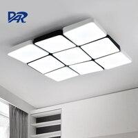 Modern Led Ceiling Lights For Living Room AC 110V 220V Black White Remote Control Iron Acrylic